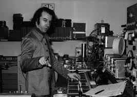 """Jean-Claude Eloy au studio WDR Cologne en 1972 lors de l'enregistrement de """"Shanti"""""""