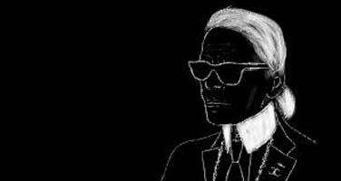 """Lagerfeld aparlé couramment le Chanel, avec son propre accent – Rhonda <span class=""""caps"""">GARELICK</span>"""